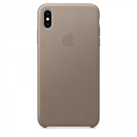 iPhone Xs Max Leather Case Taupe Apple Donostia San Sebastian España