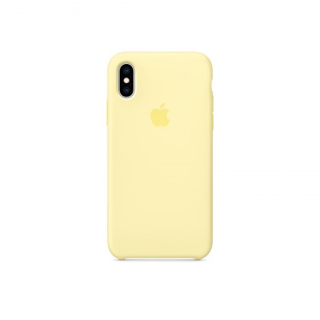 funda amarilla suave iPhone xs silicona apple
