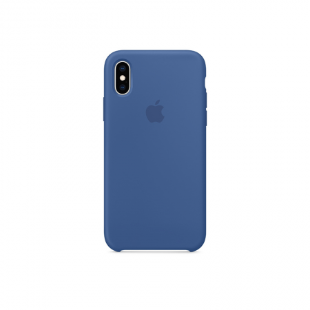 funda silicona azul clara fuerte apple iPhone x xs