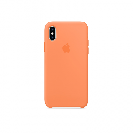 funda silicona apple iPhone xs naranja papaya
