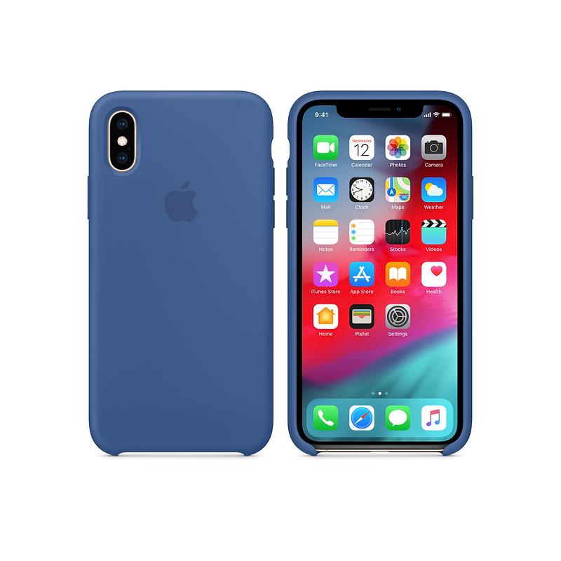 Funda silicona iPhone XS Verde menta - Sicos Apple Premium