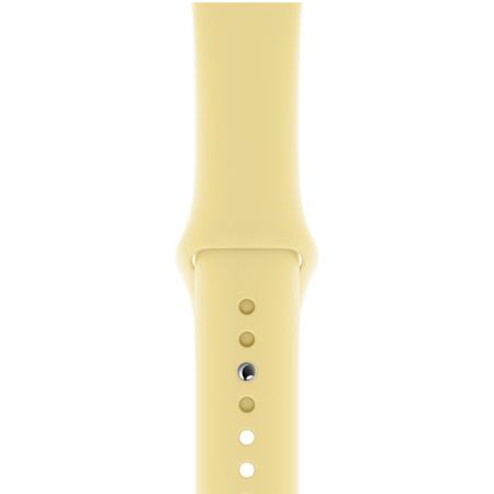 Correa apple watch series 5 amarillo crema