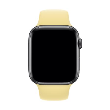correa amarilla crema para apple watch