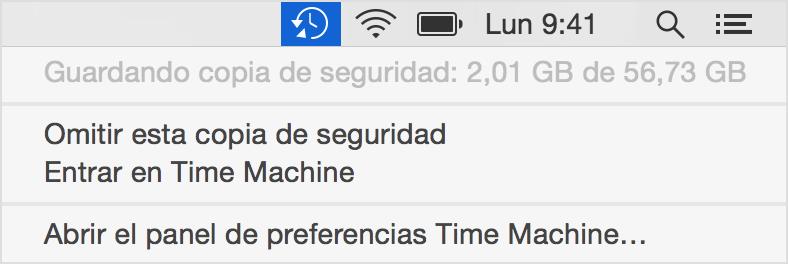 copia de seguridad automática en mac