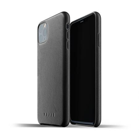 Funda de cuero negro para iphone 11 pro max