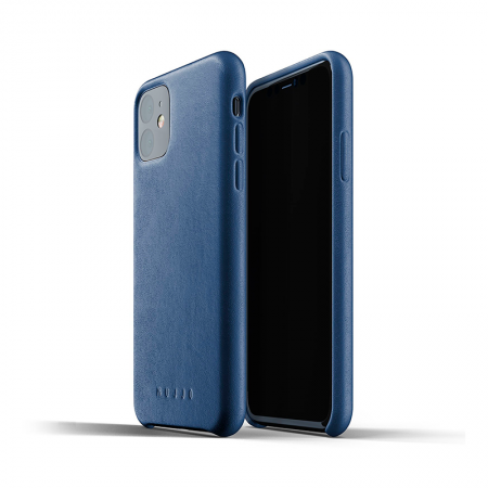 funda de cuero para iphone 11 color azul