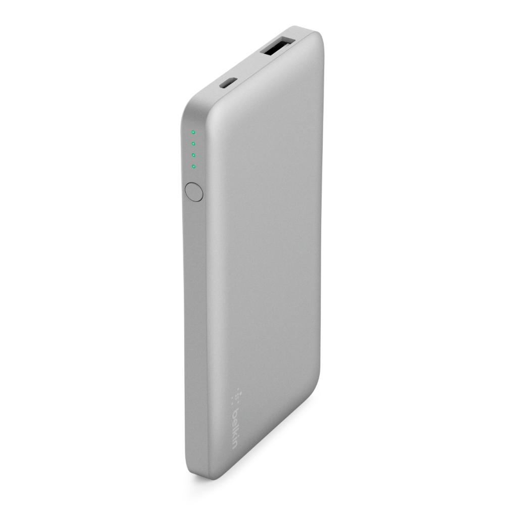 Cargador portátil para iPhone color plata