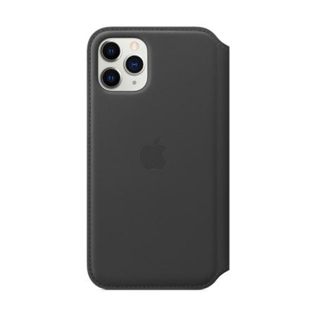 funda de cuero negro con tapa para iphone 11 pro de apple