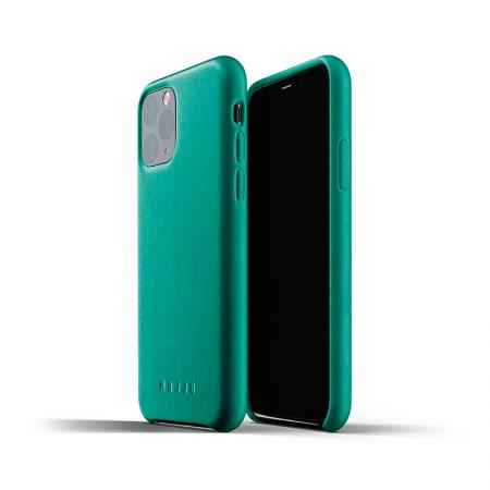Funda de cuero vegetal verde para iPhone 11 Pro de Mujjo