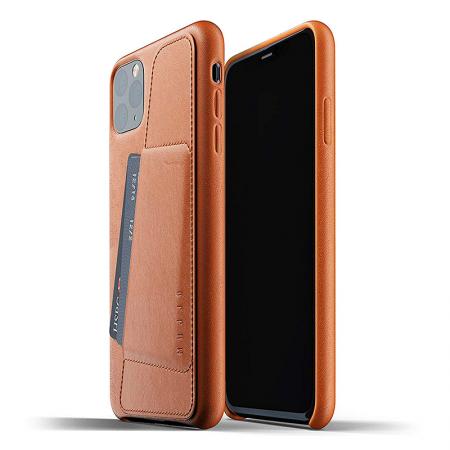 Funda Mujjo de cuero marrón con tarjetero para iPhone 11 Pro Max