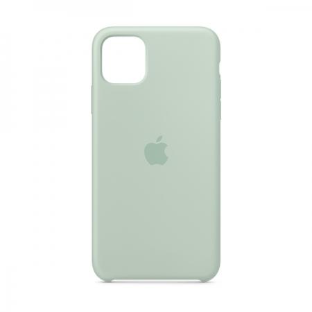Funda de silicona Apple Verde Berilo para iPhone 11 Pro Max