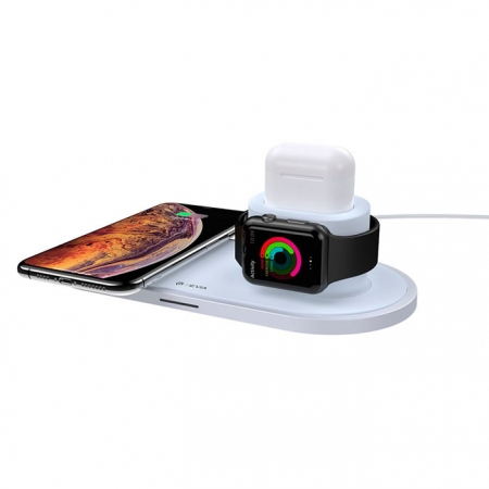 Base de carga Devia 3 en 1 para iPhone, Apple Watch y AirPods con estuche de carga