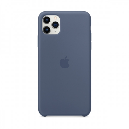 Funda de silicona Apple Azúl Alaska para iPhone 11 Pro Max