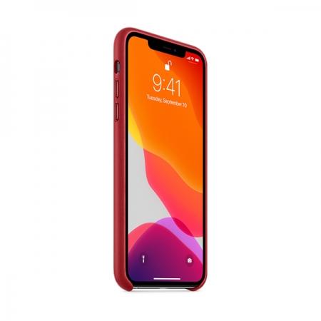 Funda roja de cuero de apple para iphone 11 pro max