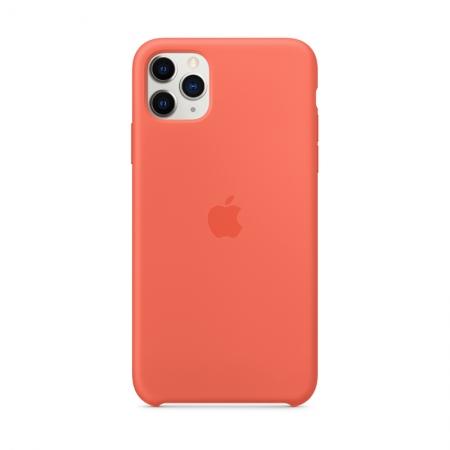 funda de silicona naranja para iphone 11 pro max