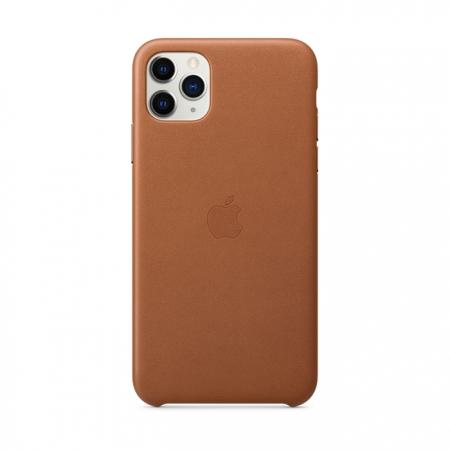 Funda de cuero marrón para iphone 11 pro max de apple