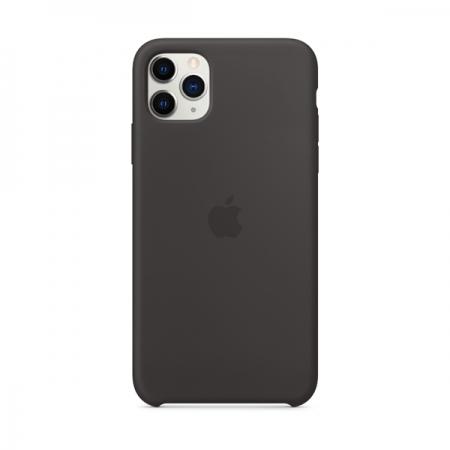 Funda de silicona Apple negra para iPhone 11 Pro Max