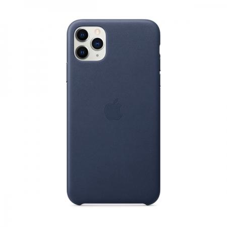 Funda iphone 11 pro max azul noche de cuero de apple