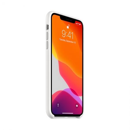 Funda de silicona Apple Blanca para iPhone 11 Pro Max