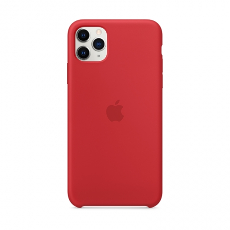 Funda de silicona Apple Roja para iPhone 11 Pro Max