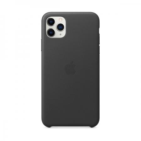 Funda de cuero negro de apple para iphone 11 pro max