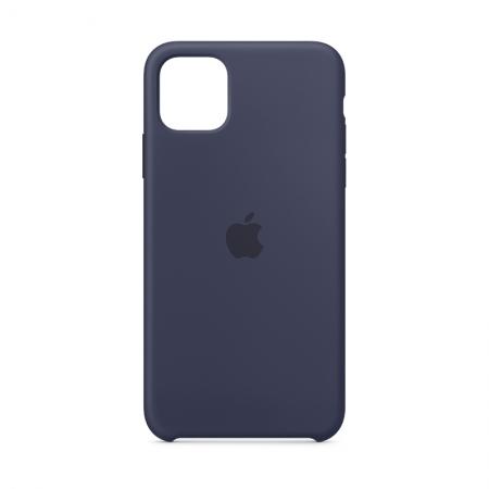 Funda de silicona Apple Azúl Noche para iPhone 11 Pro Max