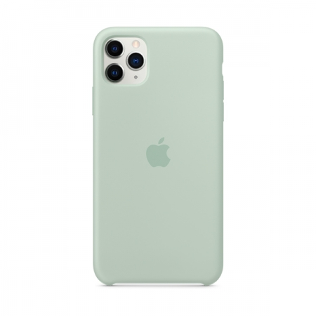 Funda de silicona Apple Verde Berilo para iPhone 11 Pro Max