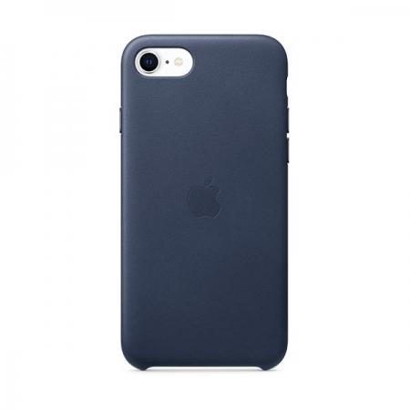 Funda de cuero azul de Apple para iPhone SE 2020