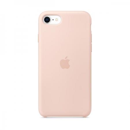 Funda silicona rosa Apple para iPhone SE