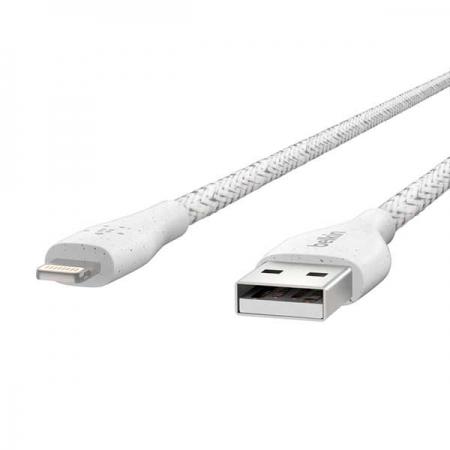 Cable lightning Duratek blanco para iphone y ipad belkin