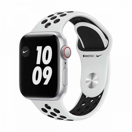 apple-watch-nike-se-40mm-gps+cel-plata-correa-deportiva-blanca