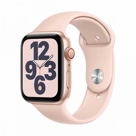 apple-watch-se-44mm-gps+cel-rosa-correa-silicona-rosa
