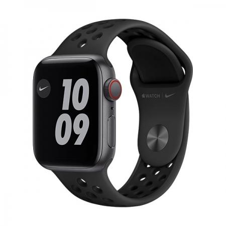 apple-watch-nike-se-40mm-gps+cel-gris-espacial-correa-negra