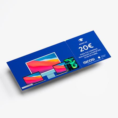 Bono 20 euros promoción Back to School