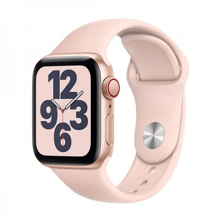Apple Watch SE 40mm GPS+Celular Dorado con correa rosa deportiva