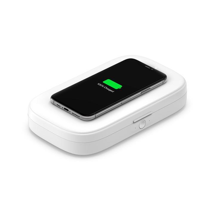 Cargador inalámbrico Belkin y Esterilizador para iPhone