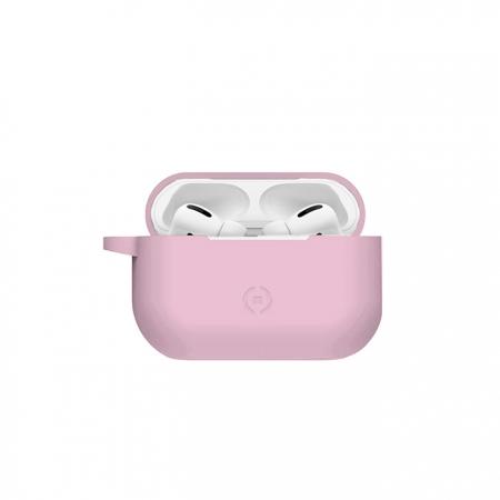 Funda de silicona rosa para AirPods Pro
