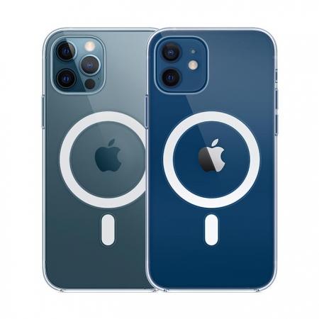 Funda transparente Apple MagSafe iPhone 12 y 12 Pro