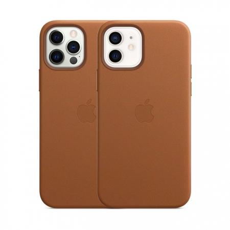 Funda de cuero iPhone 12 y 12 Pro