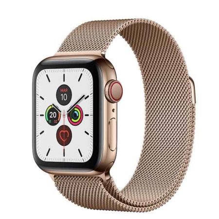 Apple Watch series 5 acero inoxidable dorado