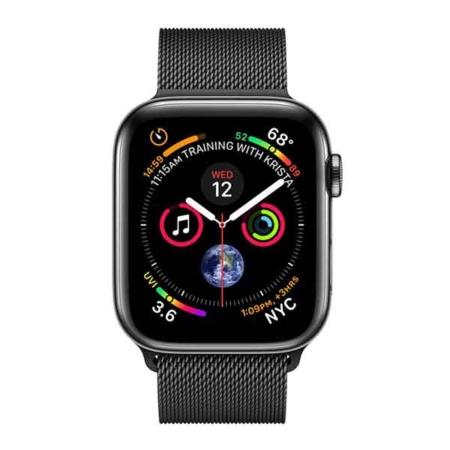 comprar Apple Watch series 4 acero inoxidable con correa milanese negra