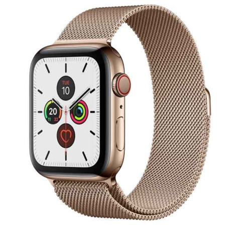 comprar Apple Watch series 5 acero inoxidable dorado