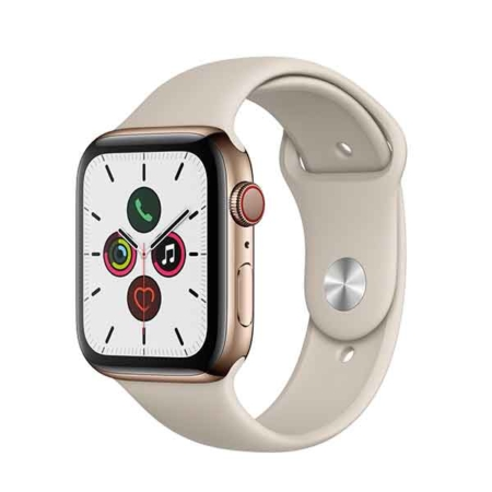 comprar Apple Watch series 5 acero inoxidable correa silicona color piedra