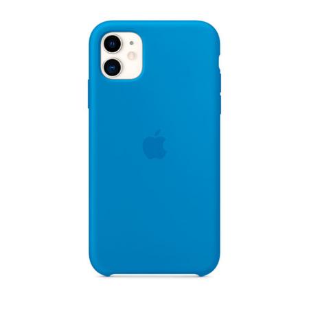 Funda Apple de silicona color azul para iPhone 11