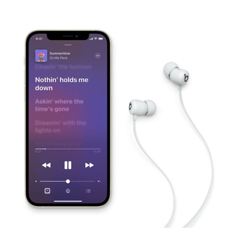 comprar auriculares inalámbricos Beats flex blancos