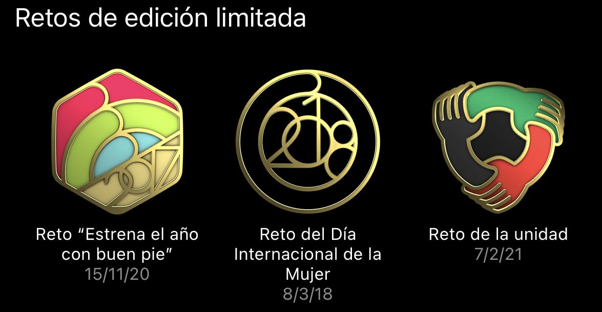 retos edicion limitada medallas
