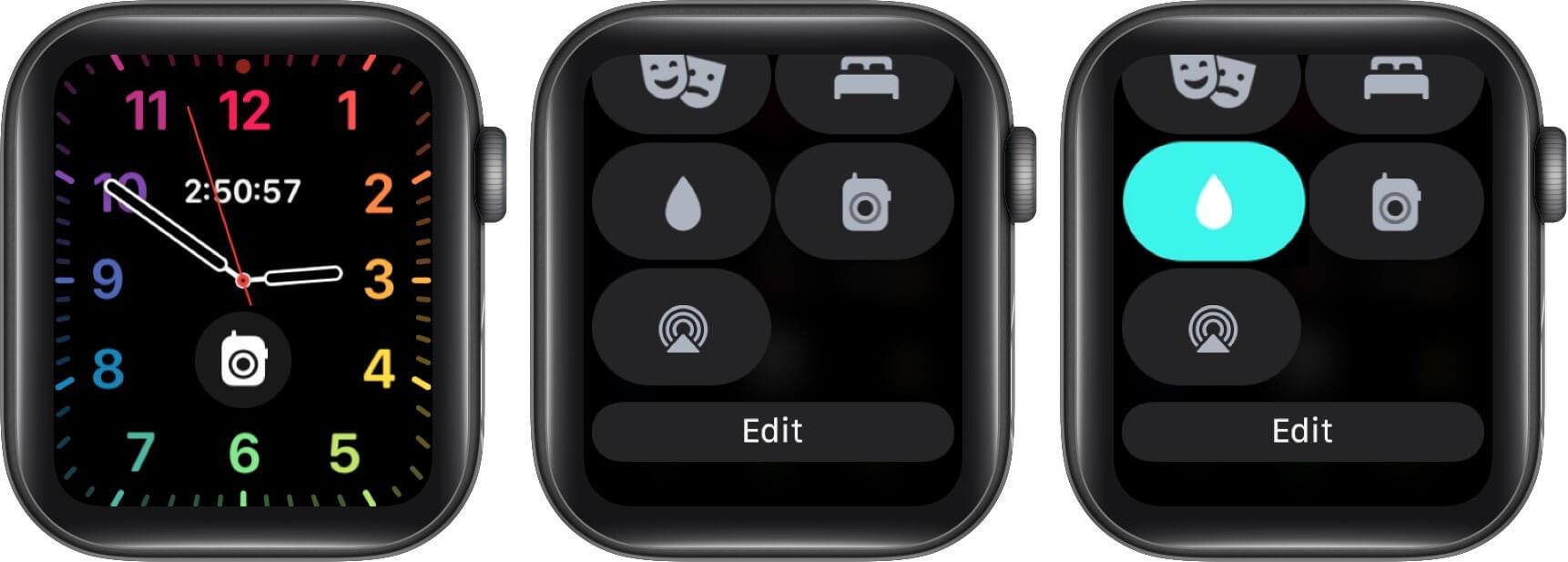 Bloqueo acuático Apple Watch