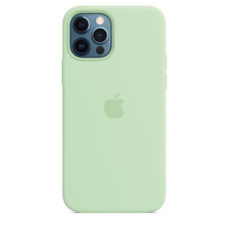 Funda de silicona iPhone 12 y iPhone 12 Pro Pistacho