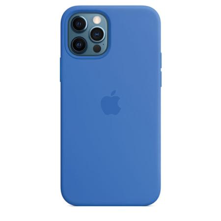 Funda silicona iPhone 12 y iPhone 12 Pro Azul Capri