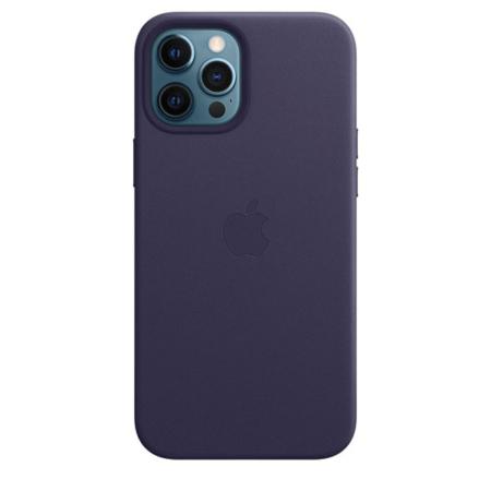 Funda de piel iPhone 12 Pro Max Violeta Profundo
